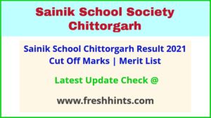 Sainik School Chittorgarh Clas 6 and 9 Admission List 2021