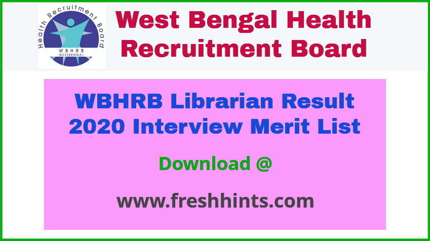 WB Health Librarian Result 2020