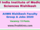 AIIMS Rishikesh Faculty Group A Jobs 2020