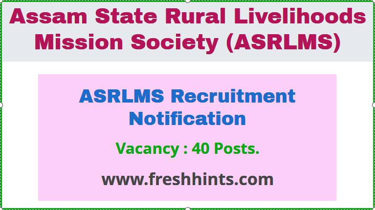 ASRLMS Recruitment Notification