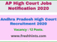 Andhra Pradesh High Court Recruitment 2020