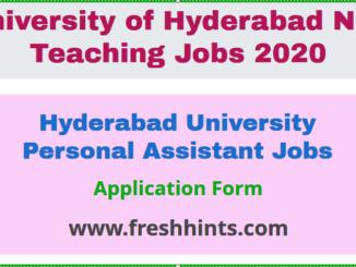 Hyderabad University Personal Assistant Jobs