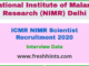 ICMR NIMR Scientist Recruitment 2020