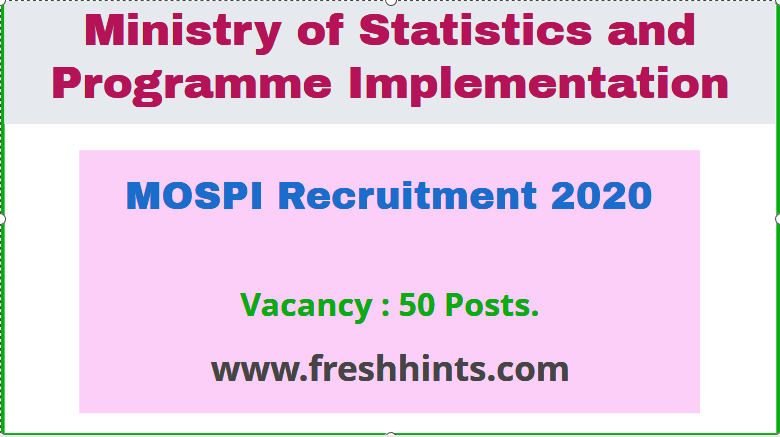 MOSPI Recruitment 2020
