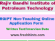 RGIPT Non-Teaching Online Application Form