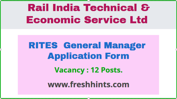 RITES General Manager Application Form