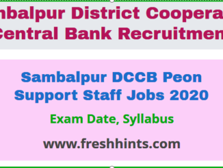 Sambalpur DCCB Peon Support Staff Jobs 2020