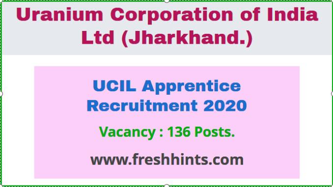 UCIL Apprentice Recruitment 2020