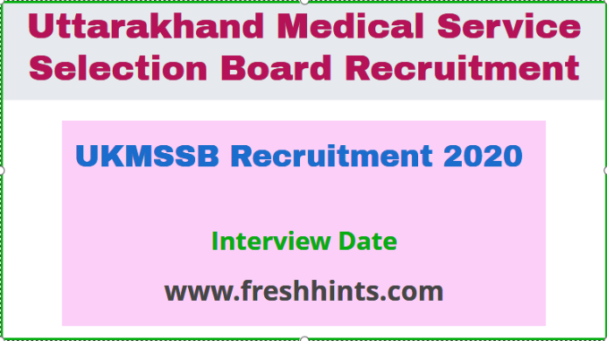 UKMSSB Recruitment 2020