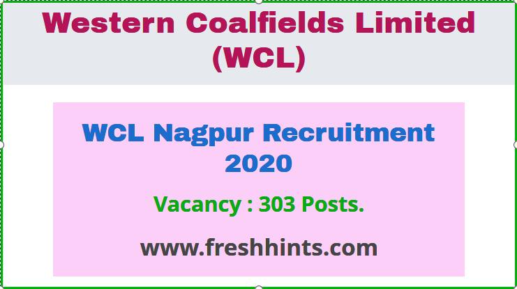 WCL Nagpur Recruitment 2020
