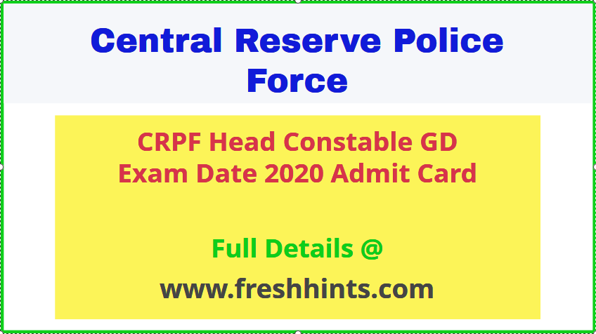 crpf-head-constable-gd admit-card-2020