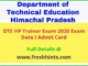 DTE Himachal Pradesh Trainer Admit Card 2020