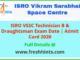 ISRO VSSC Technician B Hall Ticket 2020
