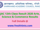 Jharkhand Board Class 12 Result 2020