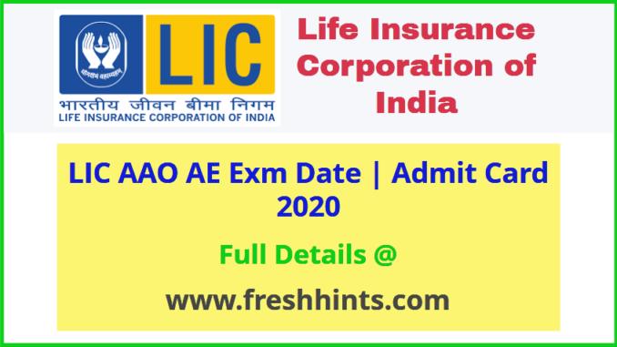 Life Insurance Corporation AAO Admit Card 2020