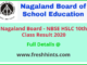 Nagaland Board 10th Class Result 2020
