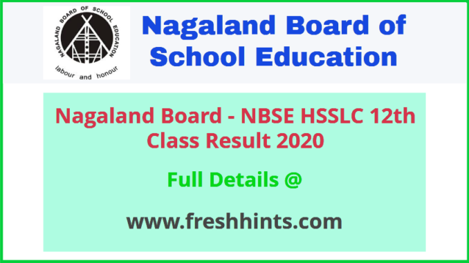 Nagaland Board 12th Class Result 2020