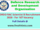 RAC Scientist Recruitment 2020 - Full Details