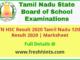 Tamil Nadu 12th Class Result 2020