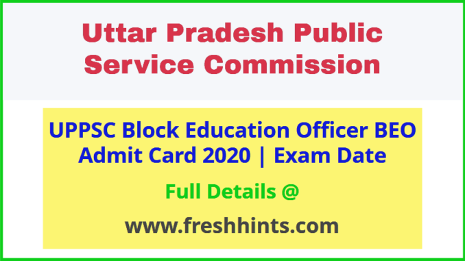 Uttar Pradesh BEO Admit Card 2020