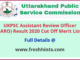 Uttarakhand Assistant Review Officer Result 2020