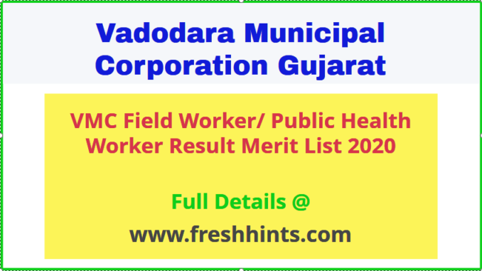 VMC Field Worker PHW Result Merit List 2020