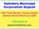 VMC Field Worker PHW Result Merit List 2020