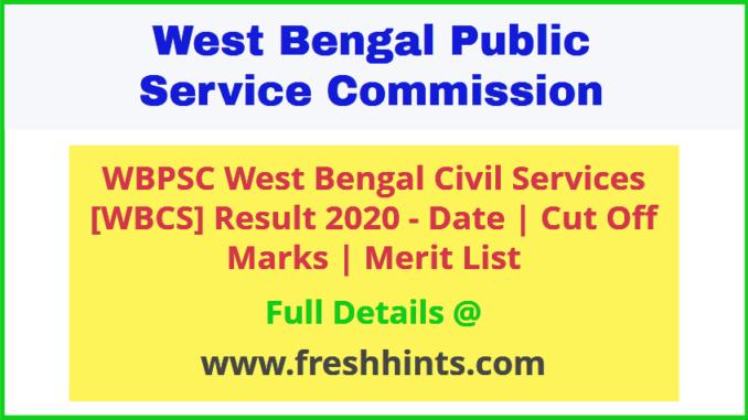 West Bengal Civil Services Exam Result 2020
