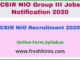 CSIR NIO Recruitment 2020