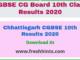 Chhattisgarh CGBSE 10 Results 2020