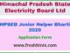 HPSEB Junior Helper Bharti 2020
