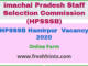 HPSSSB Hamirpur Vacancy 2020