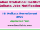 ISI Kolkata Recruitment 2020