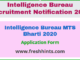 Intelligence Bureau MTS Bharti 2020