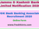 J&K Bank Banking Associate Recruitment 2020