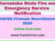 KSFES Fireman Recruitment 2020