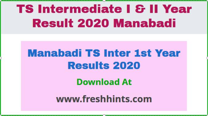 Manabadi TS Inter 1st Year Results 2020