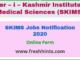 SKIMS Jobs Notification 2020