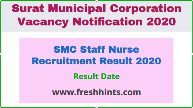 SMC Staff Nurse Recruitment Result 2020