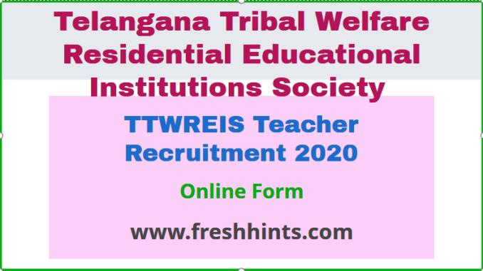 TTWREIS Teacher Recruitment 2020