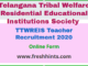 TTWREIS Teacher Recruitment 2020
