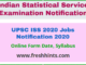 UPSC ISS 2020 Jobs Notification 2020