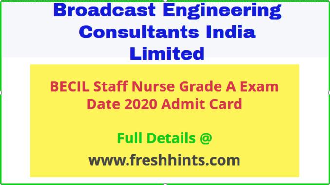 BECIL Staff Nurse Admit Card