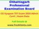 CG TET Admit Card 2020