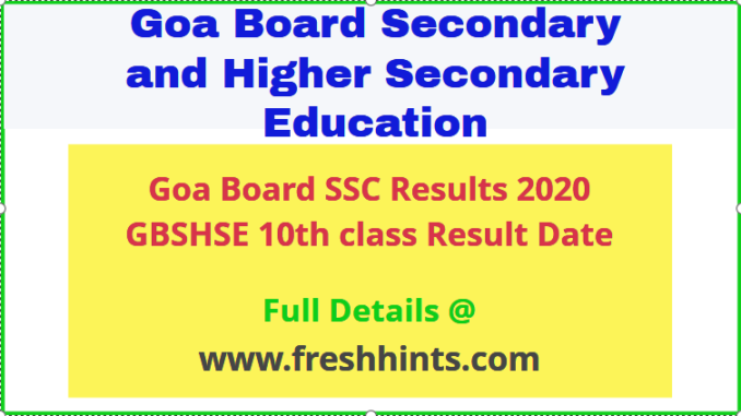 GOA Board Class 10th Result