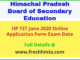 HP TET June 2020 Online Form