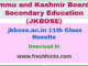 jkbose.ac.in 11th Class Results