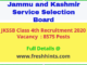 JKSSB Class IV Recruitment