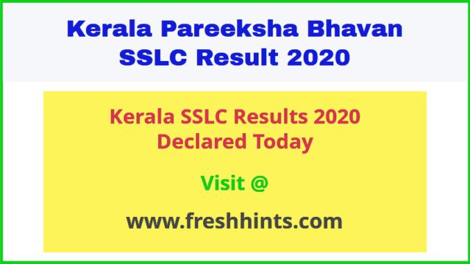 Kerala Pareeksha Bhavan 10th Result 2020