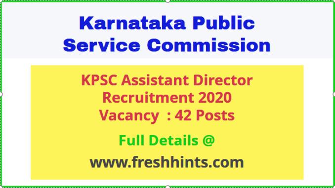 KPSC Assistant Director Recruitment